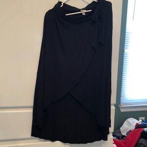 Long black skirt size medium